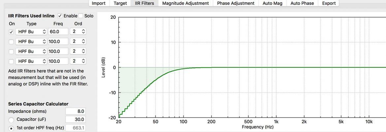 FIR Designer IIR Filters tab